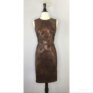Vince Camuto vegan leather sheath dress